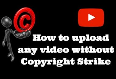 how to upload copyrighted video on youtube