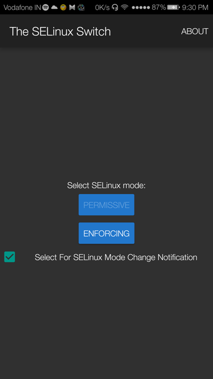 SELinux Switch App