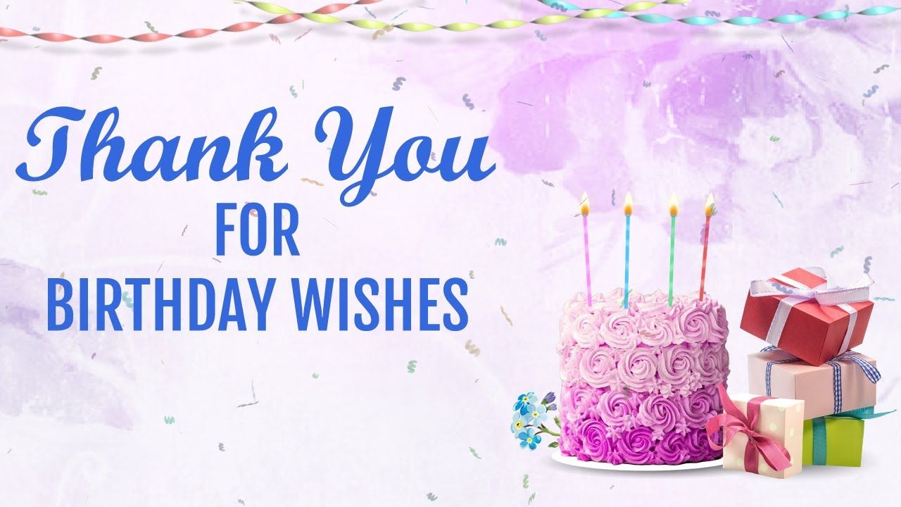 thanks you for birthday wishes