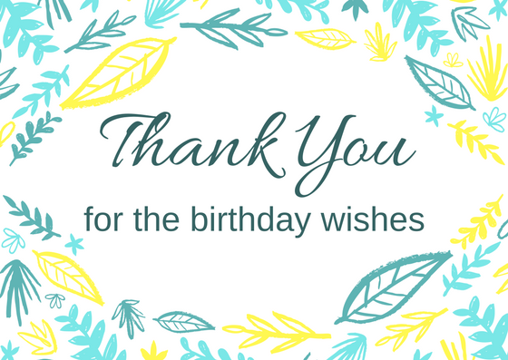 thank you wishes for birthday